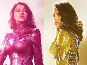 No cinema, elas têm a força como as Power Rangers rosa e amarela, mas as atrizes arrasam cantando