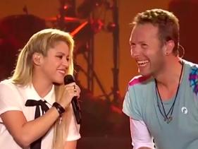 Shakira canta com o Coldplay no Global Citizen Festival