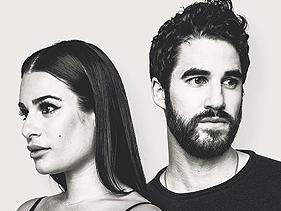 """Parcerios na série """"Glee"""", Lea Michele e Darren Criss anunciam turnê conjunta"""