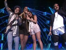 """Ivete Sangalo e Melim cantam """"Um Sinal"""" no palco do The Voice Brasil"""