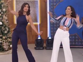 """Wanessa faz performance e ensina coreografia de """"Loko"""" para Fátima Bernardes"""