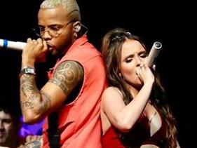 Com Maisa na plateia, Larissa Manoela faz show com participações de MC Zaac e Joey Montana em São Paulo