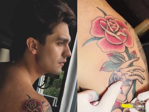 Ao som de Lil Nas X, Luan Santana apresenta nova tatuagem